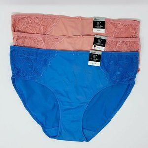 Inc Lace Trim Hipster Underwear Size 1X, 3 Pairs